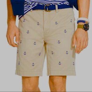 Polo Ralph Lauren Embroidered Anchor Khaki Shorts
